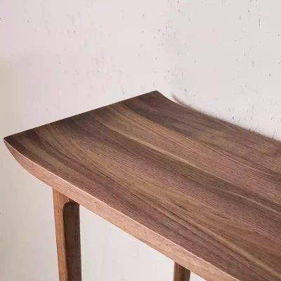 顧致定制黑胡桃木實木供桌新中式翹頭案現代簡約實木條案玄關案臺條桌