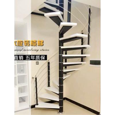閃電客旋轉樓梯室內閣樓復式閣樓鋼木樓梯家用整體別墅實木loft樓梯定制 熱彎押金30厘米長