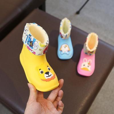 芳棋云品牌寶寶雨鞋男童女童水鞋雨靴防滑1-3嬰幼兒童幼兒園加絨四季通用
