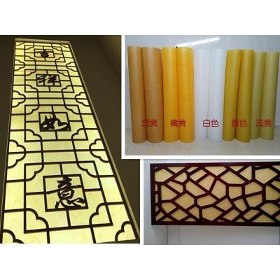 羊皮紙燈膜貼紙褶皺色白色木花板花格透光膜羊皮紙燈罩材料