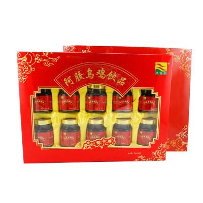 康富来 阿胶乌鸡饮品口服液 70ml/瓶X10瓶 礼盒装 送长辈 孝敬父母 女人滋补营养品送礼佳品