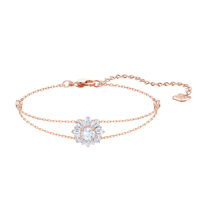 SWAROVSKI 施华洛世奇人造水晶璀璨阳光镀玫瑰金色手链5451357