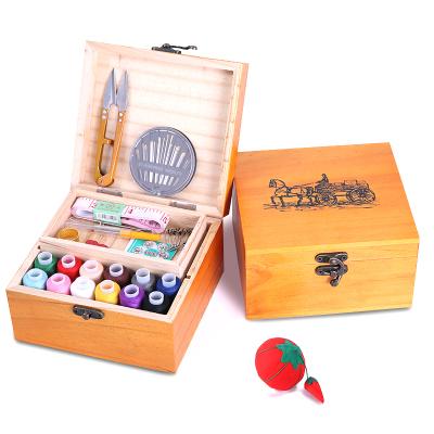 家用百宝箱木针线盒针线套装手缝线家用收纳盒针线包-一个