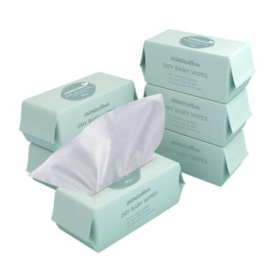 棉花秘密(mimicotton)嬰兒珍珠紋棉柔巾干濕兩用巾 寶寶紙巾 加大加厚 80抽 20*20 6包非濕巾