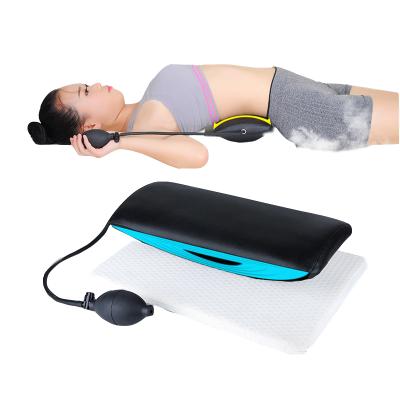 家庭保健养生老人腰椎间盘牵引器突出加热理疗枕护腰劳损按摩腰垫拉伸器