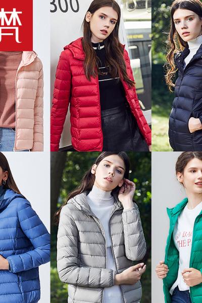 高梵2019新款輕薄時尚羽絨服女短款修身韓版白鴨絨冬裝外套潮
