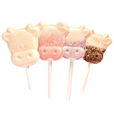 孩之寶寶牛頭奶棒糖125克創意可愛兒童牛奶片網紅棒棒糖果零食散裝