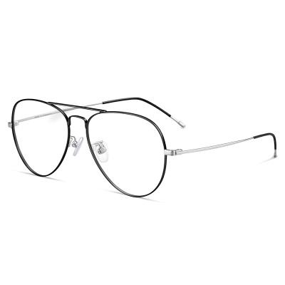 普萊斯(Pulais)防藍光輻射近視鏡電腦眼鏡眼睛框鏡架女平光護目鏡近視眼鏡男潮5025 配平光防藍光鏡片
