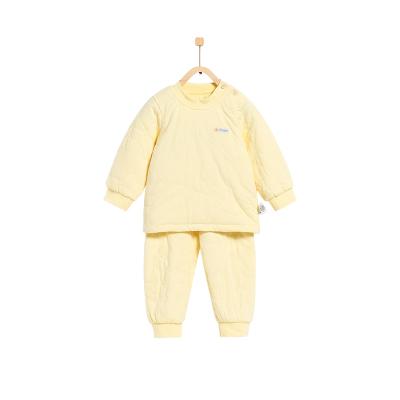 童泰TONGTAI嬰兒薄棉棉服套裝6-24個月寶寶肩開純棉棉衣棉褲兩件套秋冬季兒童通用90cm
