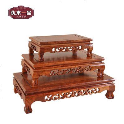 刺猬紫檀木奇石紫砂茶壶底托红木座方桌木托长方形大炕几炕台底座