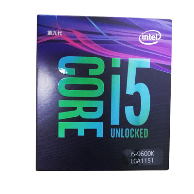 英特尔 酷睿I5 9600K 盒装CPU 6核处理器 (兼容Z390 Z370 B360)