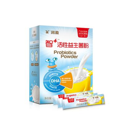 润盈(BIOGROWING)智+ 200亿儿童活性益生菌粉剂 盒装 72克(2克*36条)含DHA 建议3岁以上的宝宝