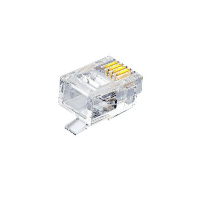 山泽SJ-3650 6P4C电话水晶头50个 单位:盒