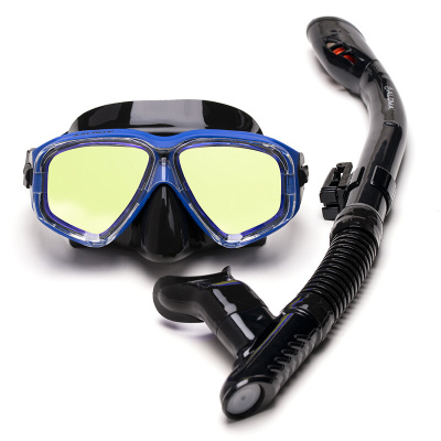 因樂思(YINLESI)成人潛伏三寶全干式呼吸管裝備兒童潛水鏡小孩鏡大框游泳面鏡