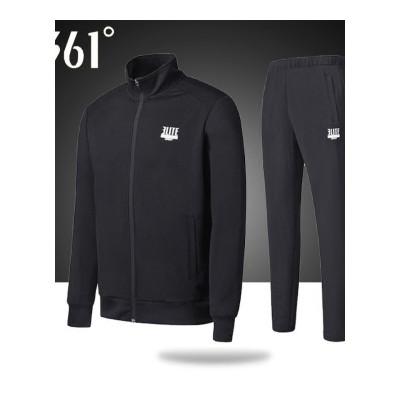 361°运动套装男装新款秋立领卫衣361°休闲两件套运动服男士