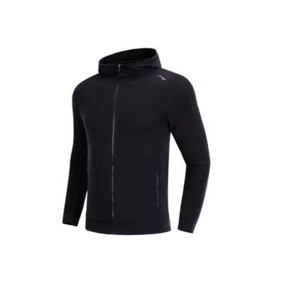 【自營】李寧正品2019春季新款衛衣男子開衫連帽跑步系列運動外套AWDP099