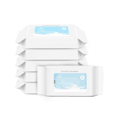 棉花秘密(mimicotton) 濕巾濕紙巾 母嬰幼兒童 便攜 小包 紙巾濕巾25片x6包 手口濕巾