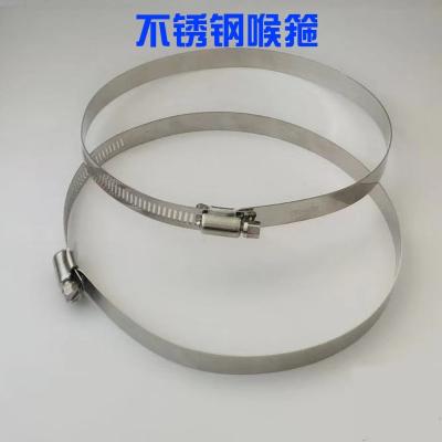特大201不锈钢喉箍美式全钢喉箍通信卡箍电线杆全孔抱箍监控卡箍 规格对应直径范围