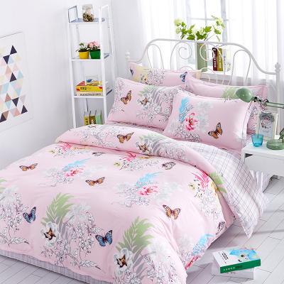 北極絨全棉四件套單雙人1.2/1.5/1.8米床ins風簡約床品被套床單床上四件套學生宿舍單人套件