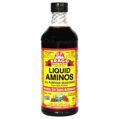 美国进口Bragg氨基酸 无盐 非转基因儿童酱油营养家庭装473ml