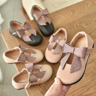 邁凱恩品牌女童皮鞋2020春秋新款蝴蝶結軟底公主鞋韓版女孩時尚淺口寶寶單鞋
