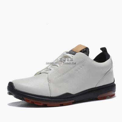 外貿男鞋真皮皮鞋golf高爾夫球鞋尾單固定釘防水防滑運動鞋男鞋子【定制】 米白色(標準皮鞋碼選購) 39