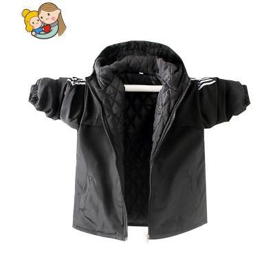 胖男童加肥加大冬裝外套中大童加絨加厚開衫沖鋒衣兒童韓版夾克潮