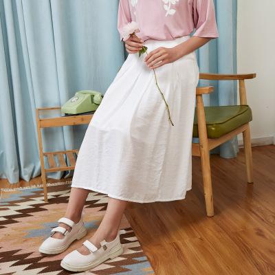 【99元任選3件】美特斯·邦威半身裙女低腰文藝淑女甜美學生舒適裙子夏裝新款