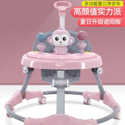 學步車防o型腿嬰兒多功能防側翻手推車寶寶可坐可推學行車起步車嬰兒學步車