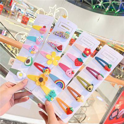 HKCP韓國少女兒童發夾劉海夾流沙水果發卡BB夾網紅泫雅風頭飾發飾邊夾