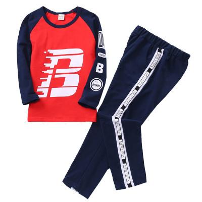 兒童運動套裝女童春裝秋季中大童衛衣套裝男寶寶兩件套潮