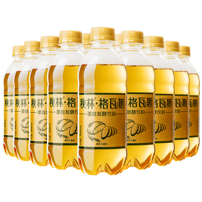 格瓦斯 飲料 秋林格瓦斯面包乳酸菌發酵飲料 哈爾濱特產350ml*12瓶