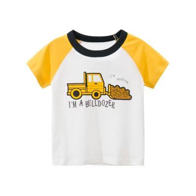 27Kids 兒童T恤韓版童裝春夏季時尚卡通短袖t恤男女通用孩子衣服
