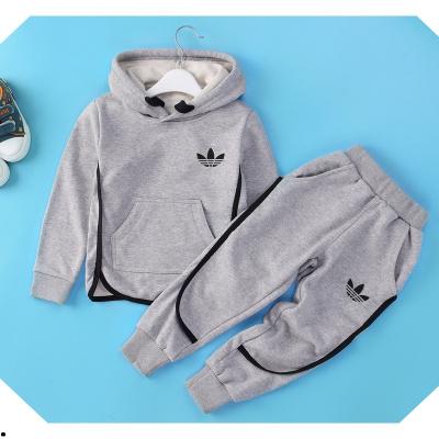 童装冬装加绒套装男童套装儿童春秋款运动套小孩子纯棉韩版两件套