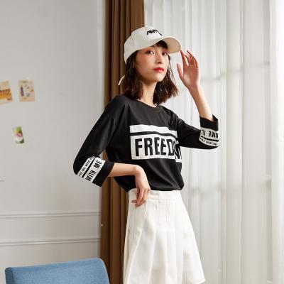 [2件5折]唐獅春款T恤女長袖T恤