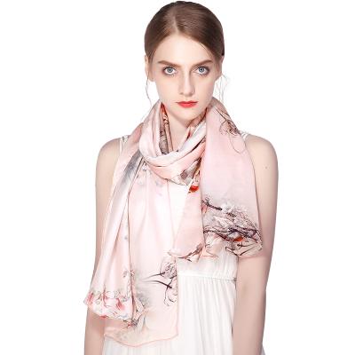 上海故事真絲絲巾女春夏空調紗巾圍巾高檔桑蠶絲綢出游披肩