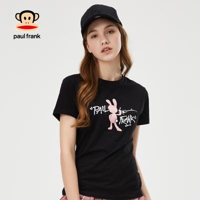 Paul Frank/大嘴猴短袖女2019新款时尚印花圆领ins超火的上衣女