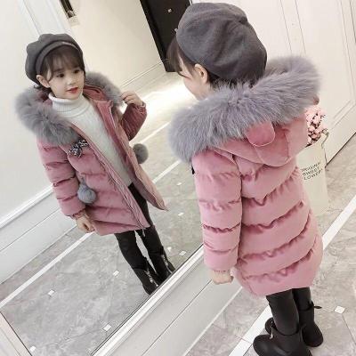女童冬装外套韩版新款洋气儿童棉衣中大童女孩棉服