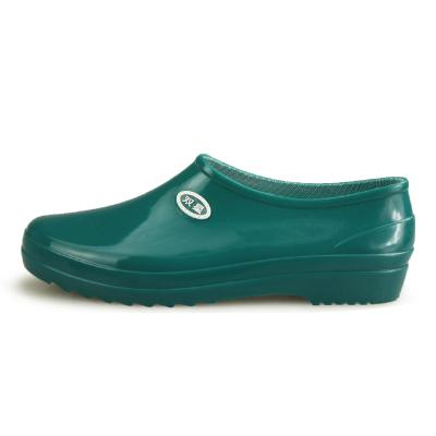 DOUBLESTAR雙星女DSA216 雙星雨鞋單女士元寶口PVC加棉低幫勞保雨靴保暖雨鞋及踝防水鞋