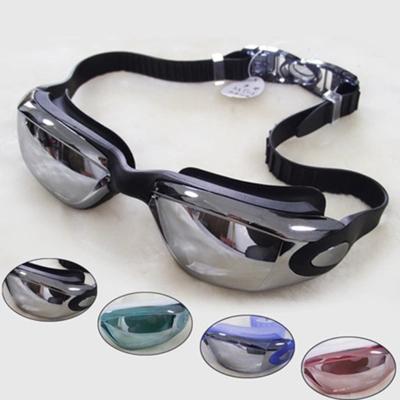 舒漫高档泳镜 防水防雾 高清舒适电镀款 男女通用正品游泳眼镜