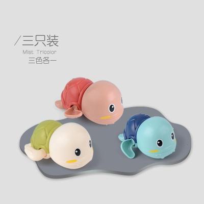 叮當貓玩具 寶寶洗澡游泳戲水好搭檔發條小烏龜 戲水小烏龜*3【三只裝每色各一】