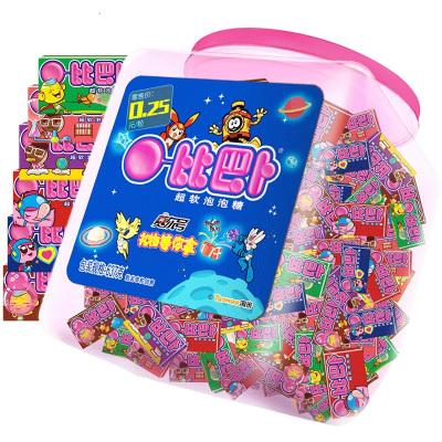 比巴卜泡泡糖150片桶裝637g多口味兒童零食品口香糖休閑糖果
