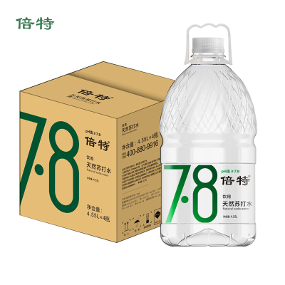 倍特天然蘇打水4.55L*4桶裝水整箱 無糖無氣弱堿性水 家庭辦公大桶水大瓶水