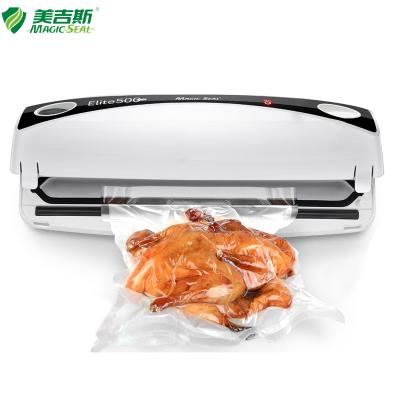 美吉斯(MAGIC SEAL) 真空包裝機封口機 食品保鮮機 家用商用全自動密封機Elite500 白色(220V電壓)