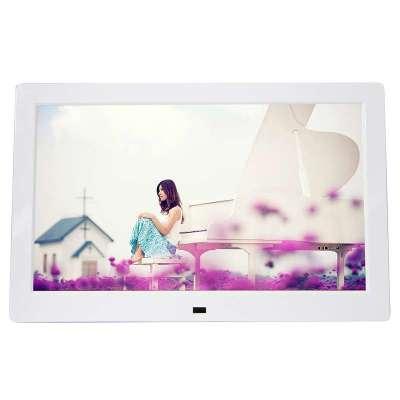 愛國者(Aigo)DPF101高清數碼相框10寸電子相冊臺歷壁掛式 音視頻播放 插卡插優盤 帶遙控器 白色