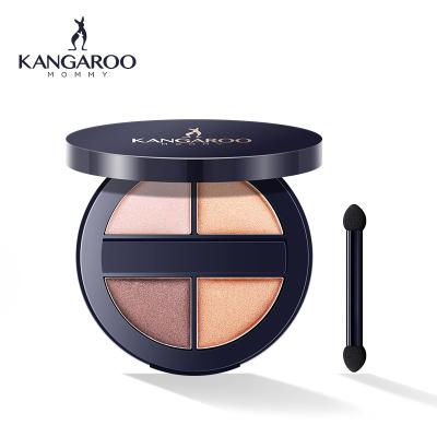 袋鼠妈妈 kangaroomommy琉光御采四色眼影 定妆持妆 柔软粉质 孕期修护彩妆适合各种肤质
