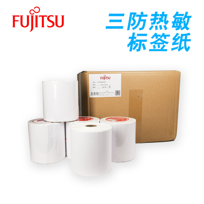 富士通(Fujitsu)热敏标签打印纸100mm*100mm不干胶标签纸 条码纸/电子秤纸 500张/卷 12卷/箱