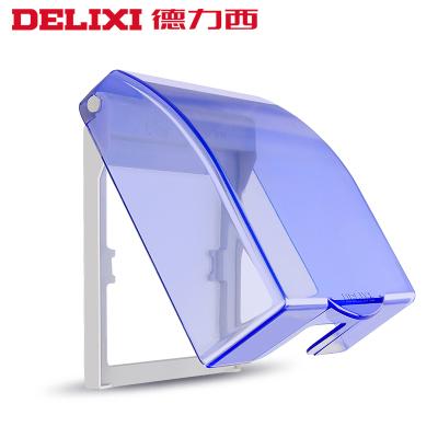 DELIXI德力西防水盒透明浴室卫生间插座防水罩86型防溅盒PVC开关电源插座防水保护盖