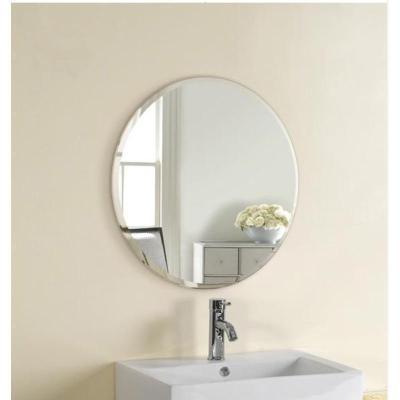 苏宁好店妙时居 简约圆形镜子浴室镜洗手盆壁挂镜梳妆台防水卫生间镜子椭圆镜 斜边圆镜60厘米+壁挂(挂片) 其他7758