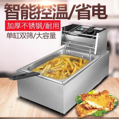 电炸炉单缸商用炸锅纳丽雅加厚油炸锅油炸机器薯塔机Naliya炸薯条鸡排机 单缸
